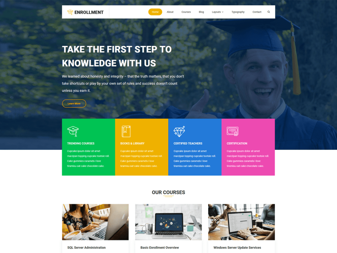 Enrollment By codevibrant