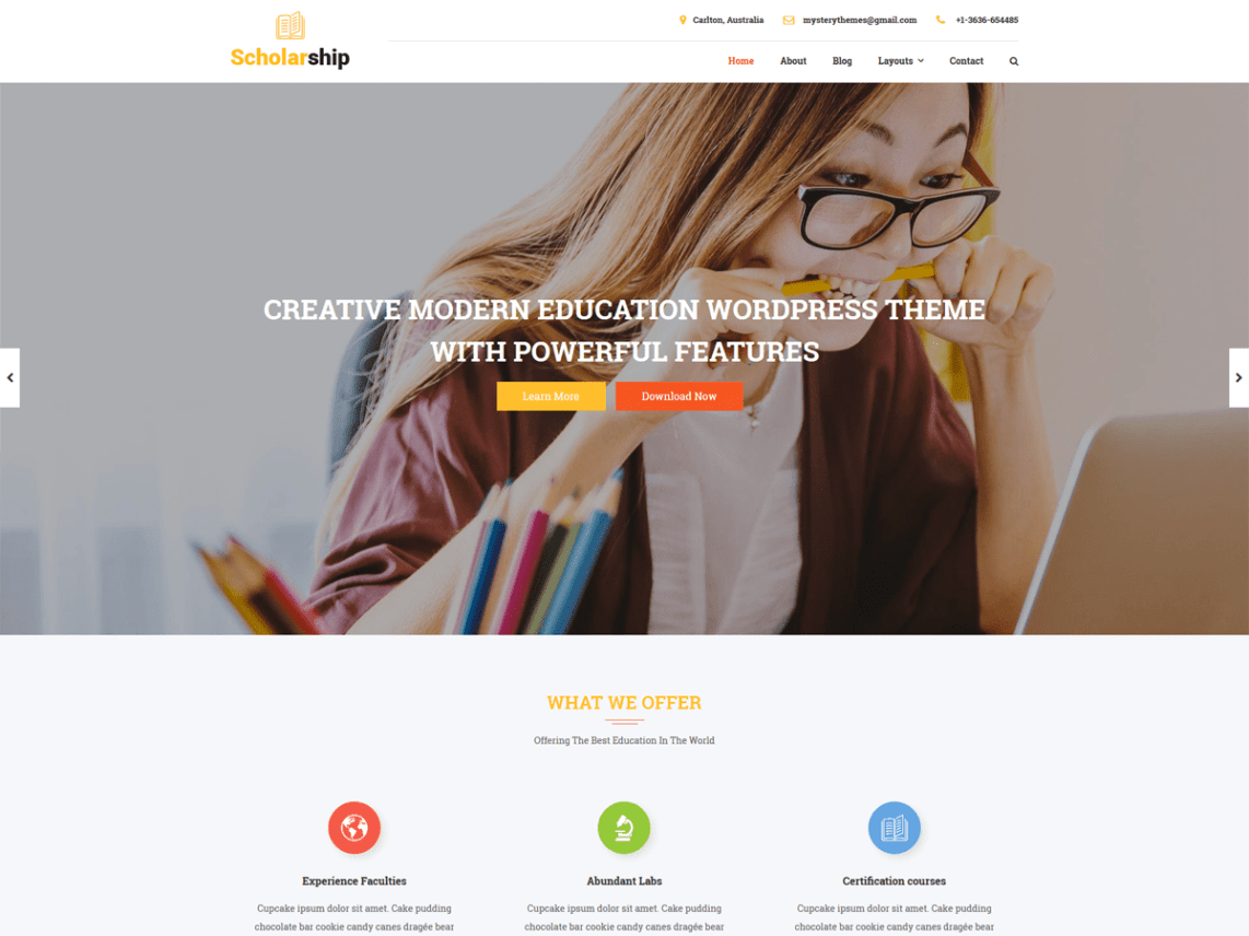 Scholarship Lite By Mystery Themes