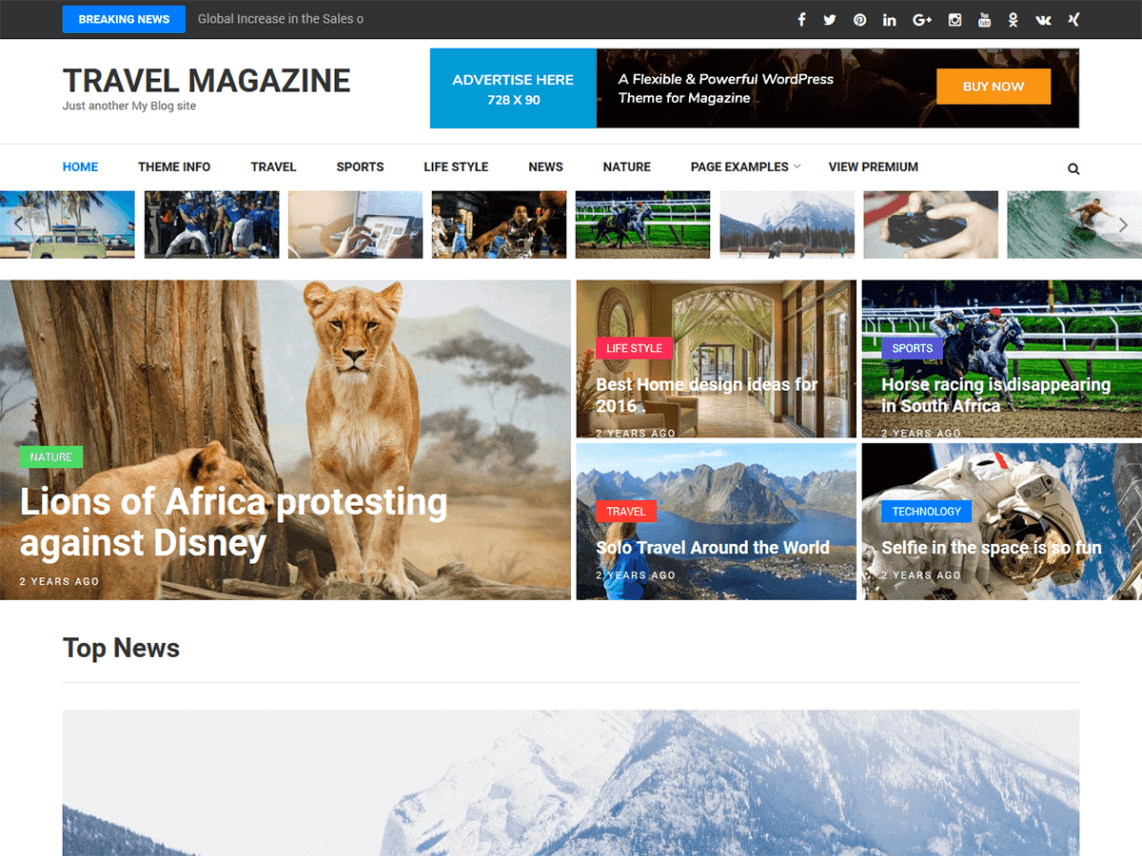 Travel Magazine By Rara Theme